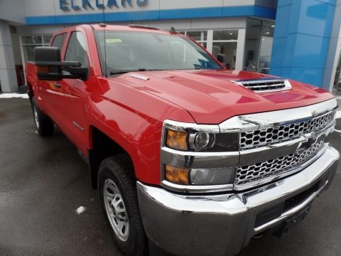 Red Hot 2019 Chevrolet Silverado 3500HD Work Truck Crew Cab 4x4