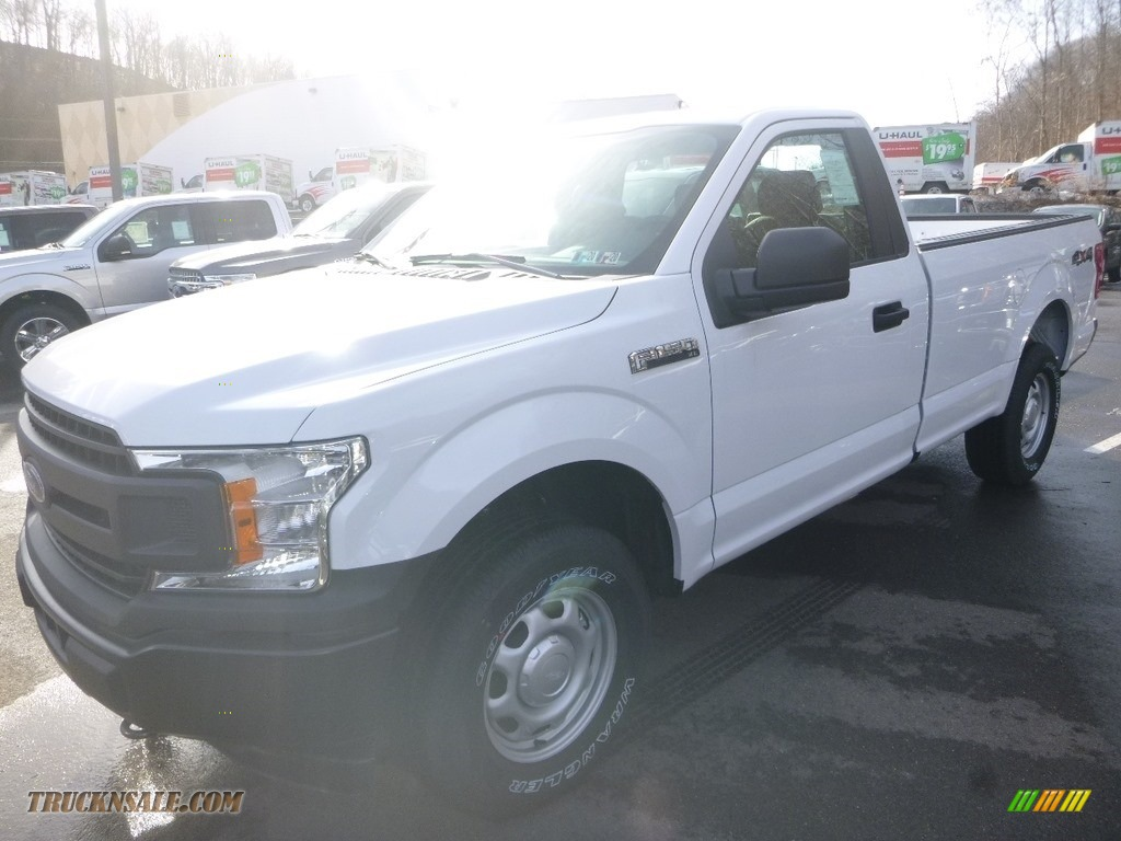 2019 F150 XL Regular Cab 4x4 - Oxford White / Earth Gray photo #2