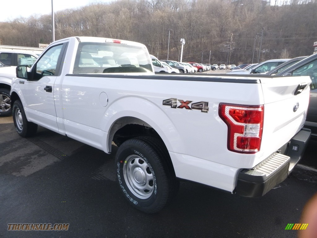 2019 F150 XL Regular Cab 4x4 - Oxford White / Earth Gray photo #3