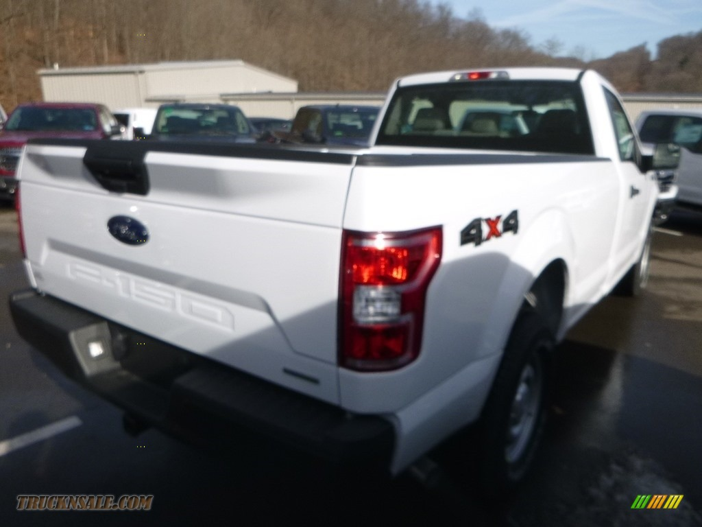 2019 F150 XL Regular Cab 4x4 - Oxford White / Earth Gray photo #5