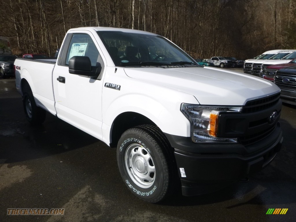 2019 F150 XL Regular Cab 4x4 - Oxford White / Earth Gray photo #6