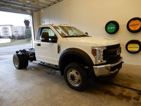 Oxford White 2019 Ford F450 Super Duty XL Regular Cab 4x4 Chassis