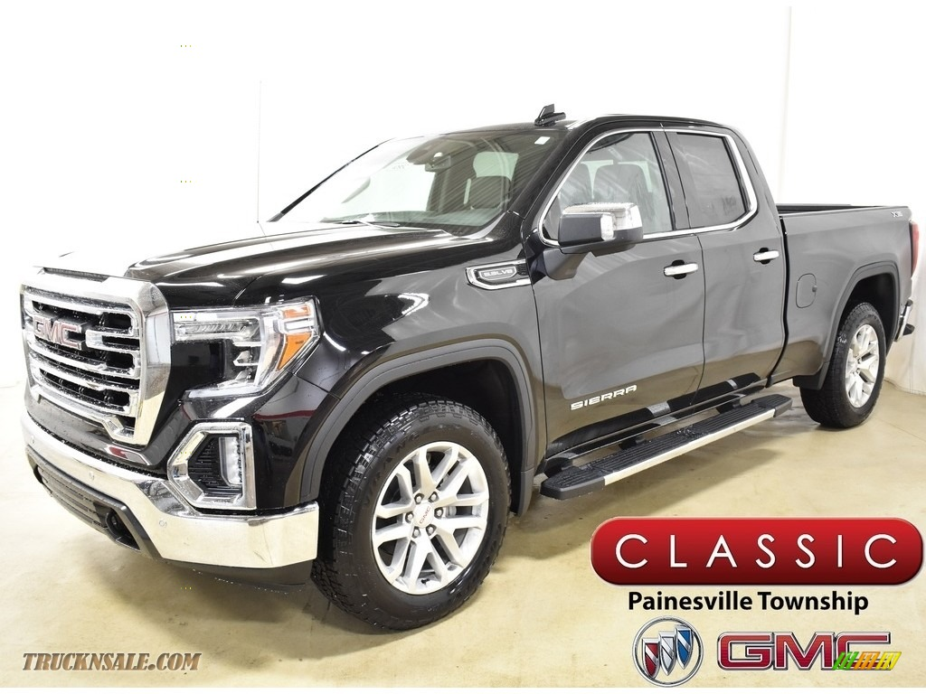 2019 Sierra 1500 SLT Double Cab 4WD - Onyx Black / Jet Black photo #1