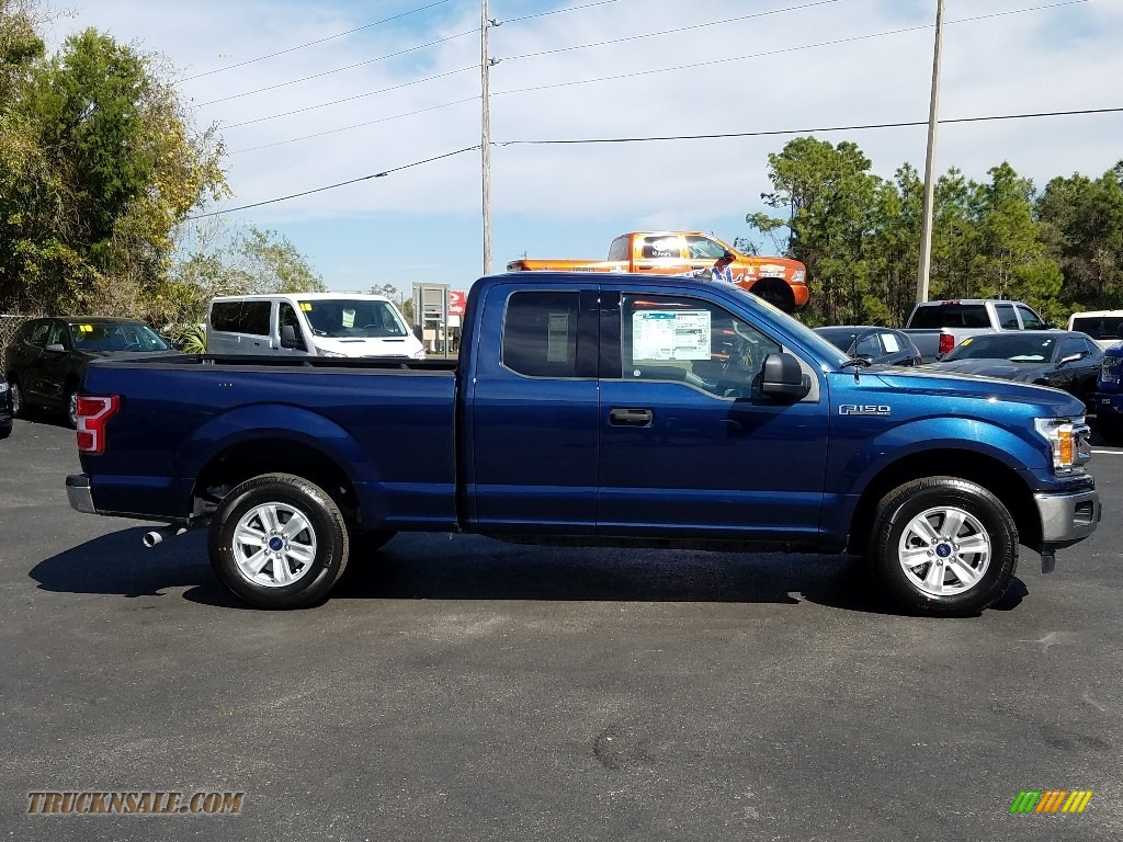 2019 F150 XLT SuperCab - Blue Jeans / Earth Gray photo #6