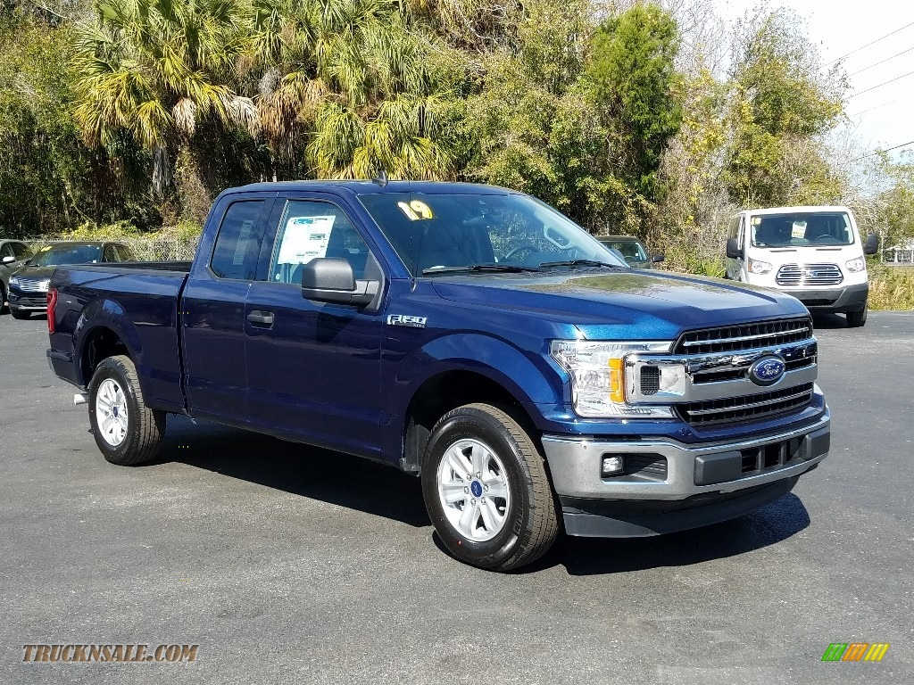 2019 F150 XLT SuperCab - Blue Jeans / Earth Gray photo #7