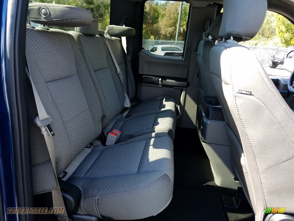 2019 F150 XLT SuperCab - Blue Jeans / Earth Gray photo #10