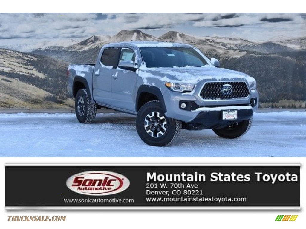 2019 Tacoma TRD Off-Road Double Cab 4x4 - Cement Gray / TRD Graphite photo #1