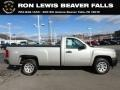 Chevrolet Silverado 1500 Work Truck Regular Cab Silver Birch Metallic photo #1