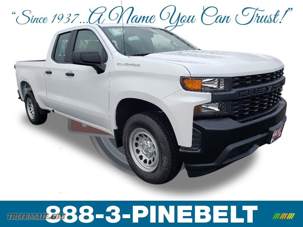 2019 Silverado 1500 WT Double Cab - Summit White / Jet Black photo #1