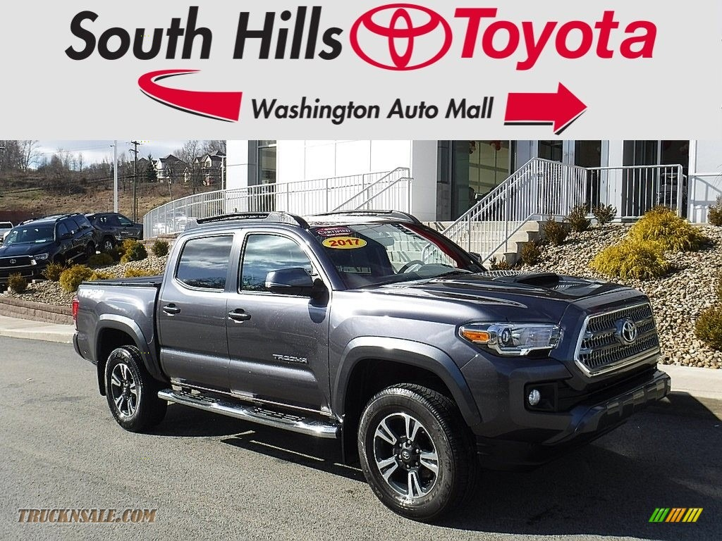 2017 Tacoma TRD Sport Double Cab 4x4 - Magnetic Gray Metallic / TRD Graphite photo #1