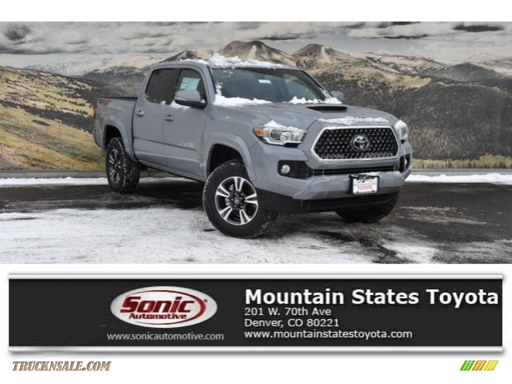 2019 Tacoma SR Double Cab 4x4 - Magnetic Gray Metallic / Cement Gray photo #1