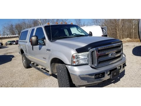 Silver Metallic 2005 Ford F250 Super Duty XLT SuperCab 4x4