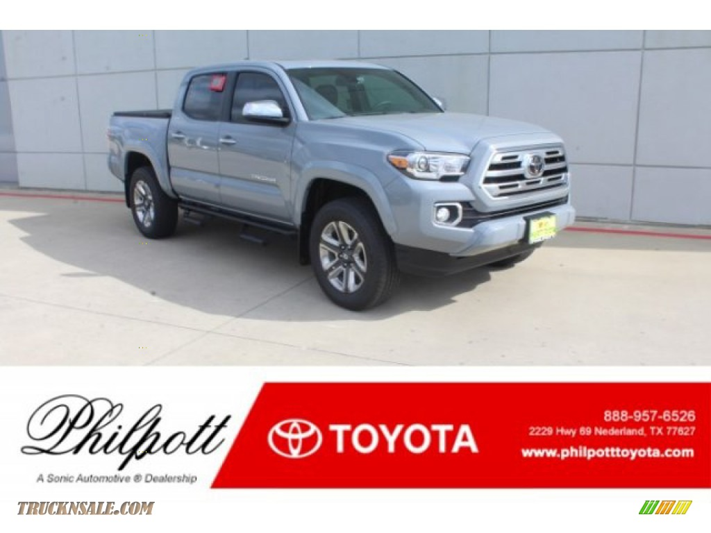 2019 Tacoma Limited Double Cab - Cement Gray / Black photo #1
