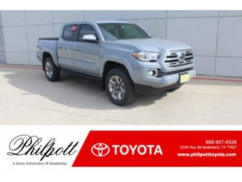 Cement Gray 2019 Toyota Tacoma Limited Double Cab