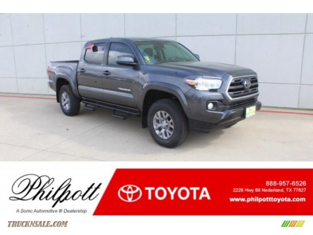 2019 Tacoma SR5 Double Cab - Magnetic Gray Metallic / Cement Gray photo #1