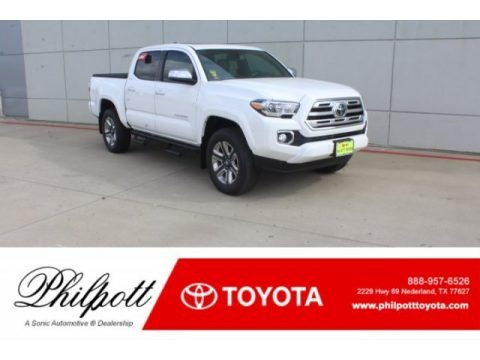 Super White 2019 Toyota Tacoma Limited Double Cab