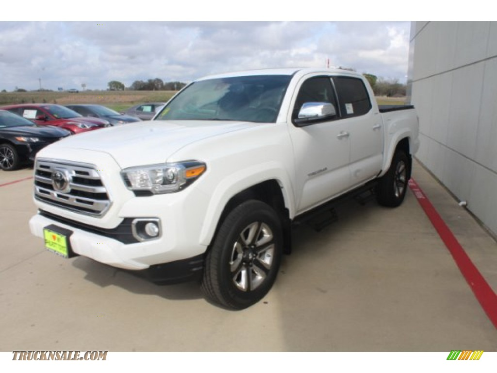 2019 Tacoma Limited Double Cab - Super White / Black photo #4