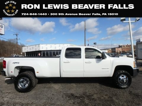 Summit White 2008 Chevrolet Silverado 3500HD LTZ Crew Cab 4x4 Dually