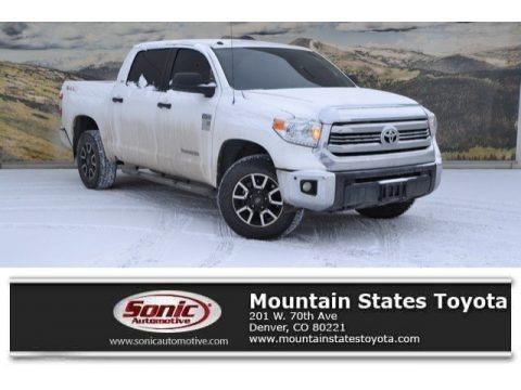 Super White 2017 Toyota Tundra SR5 CrewMax 4x4