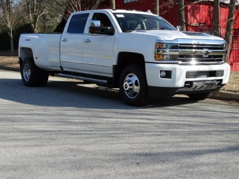 Summit White 2019 Chevrolet Silverado 3500HD High Country Crew Cab 4x4