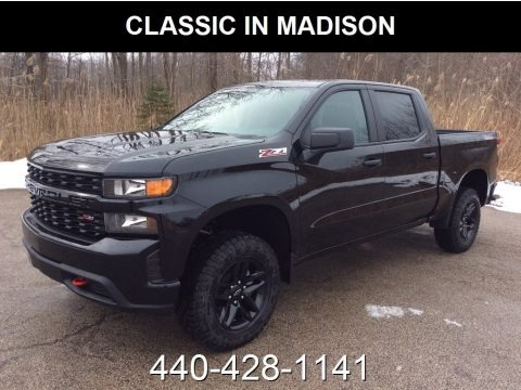 Black 2019 Chevrolet Silverado 1500 Custom Z71 Trail Boss Double Cab 4WD