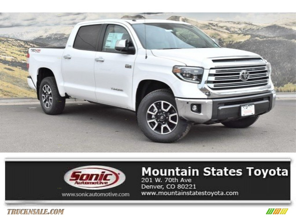 2019 Tundra Limited CrewMax 4x4 - Super White / Graphite photo #1