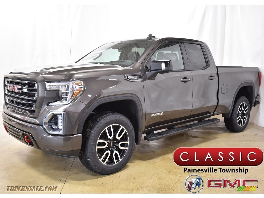 2019 Sierra 1500 AT4 Double Cab 4WD - Smokey Quartz Metallic / Jet Black photo #1