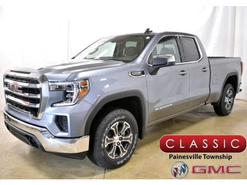 Satin Steel Metallic 2019 GMC Sierra 1500 SLE Double Cab 4WD