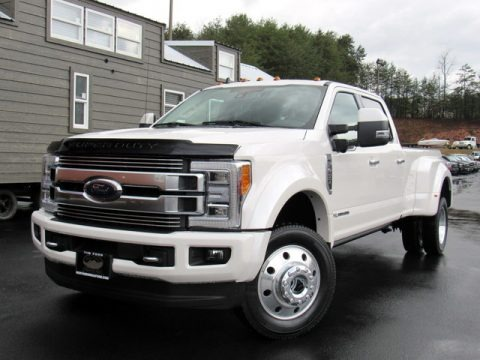 White Platinum Metallic Tri-Coat 2019 Ford F450 Super Duty Limited Crew Cab 4x4