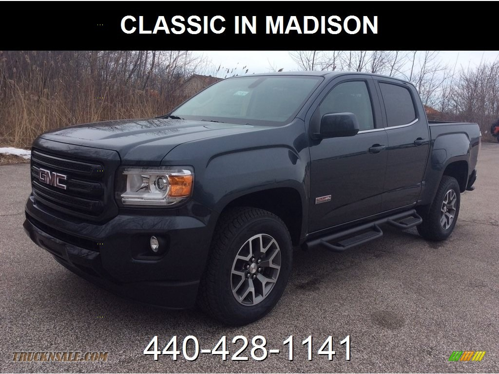 Dark Sky Metallic / Jet Black GMC Canyon SLE Crew Cab 4WD