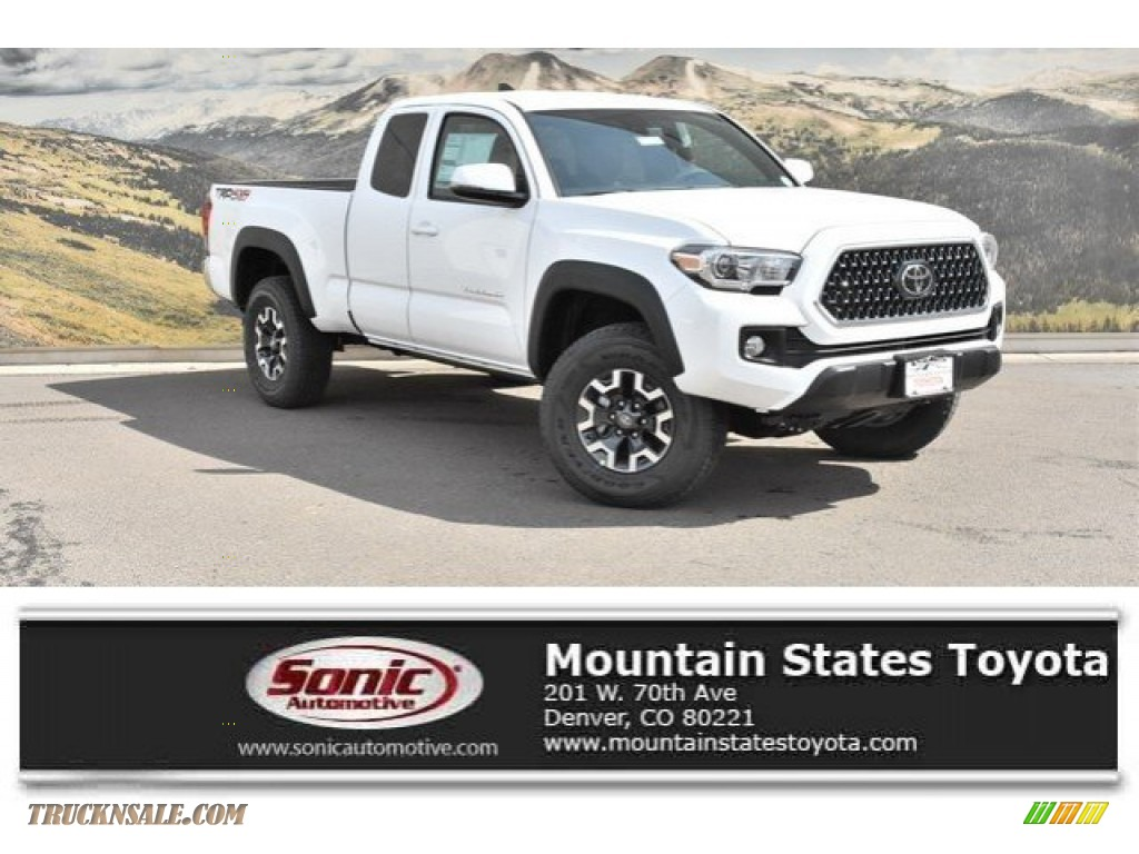 2019 Tacoma TRD Sport Access Cab 4x4 - Super White / TRD Graphite photo #1