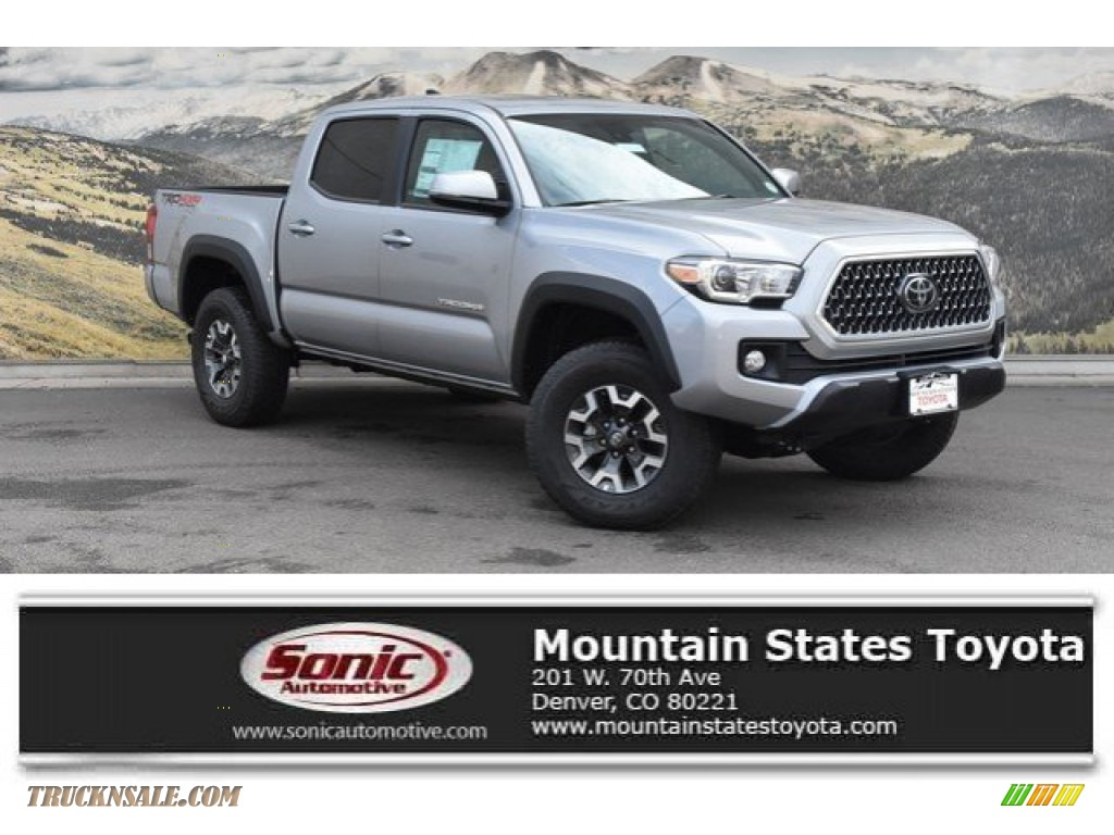 2019 Tacoma TRD Off-Road Double Cab 4x4 - Silver Sky Metallic / Cement Gray photo #1