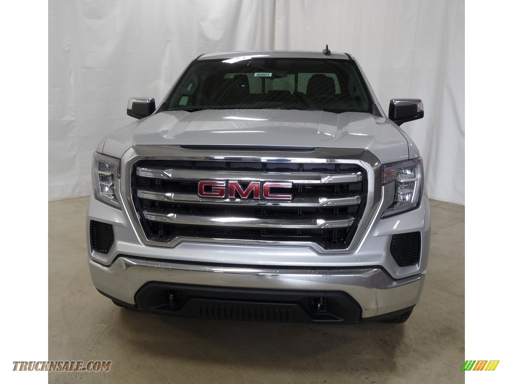 2019 Sierra 1500 SLE Double Cab 4WD - Quicksilver Metallic / Jet Black photo #4