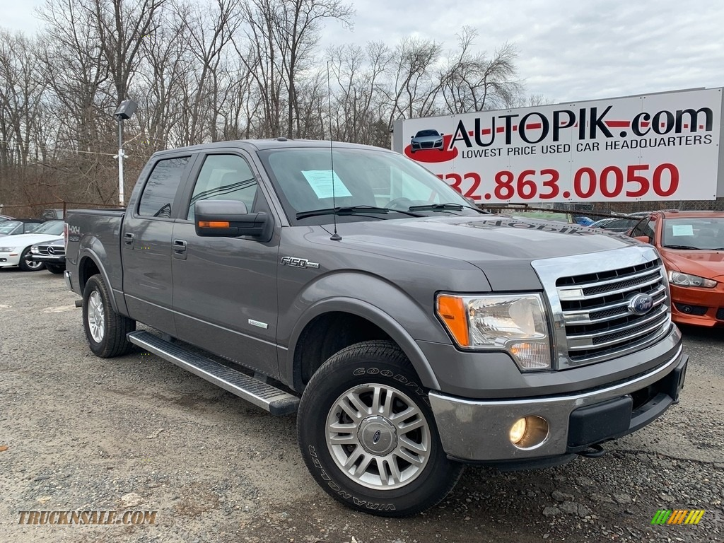 Sterling Gray Metallic / Steel Gray Ford F150 Lariat SuperCrew 4x4