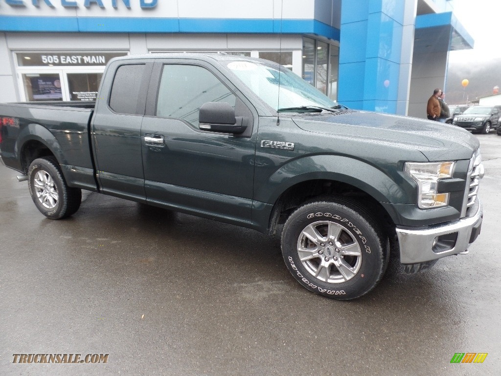 2015 F150 XLT SuperCab 4x4 - Green Gem Metallic / Medium Earth Gray photo #1