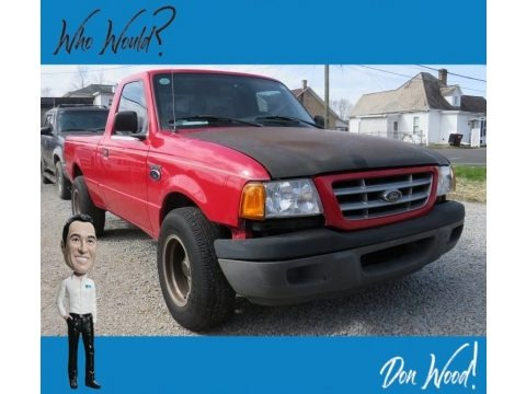 Bright Red 2001 Ford Ranger XL Regular Cab