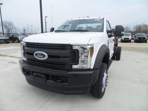 Oxford White 2019 Ford F550 Super Duty XL Regular Cab 4x4 Chassis