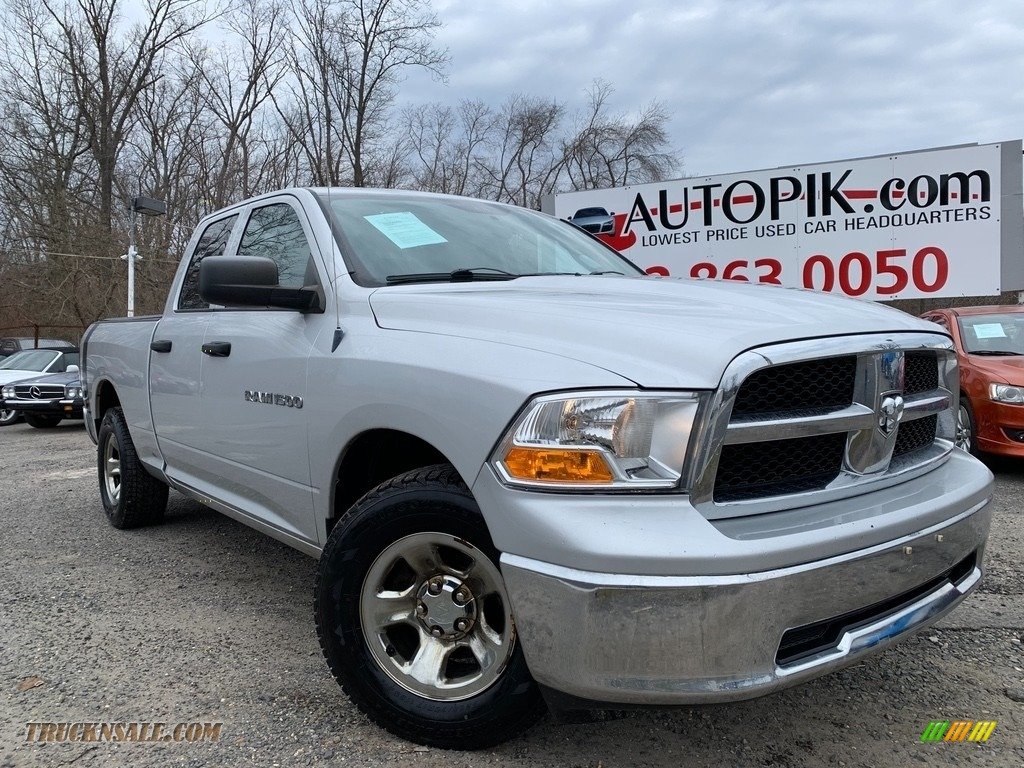 2011 Ram 1500 ST Quad Cab - Bright Silver Metallic / Dark Slate Gray/Medium Graystone photo #1