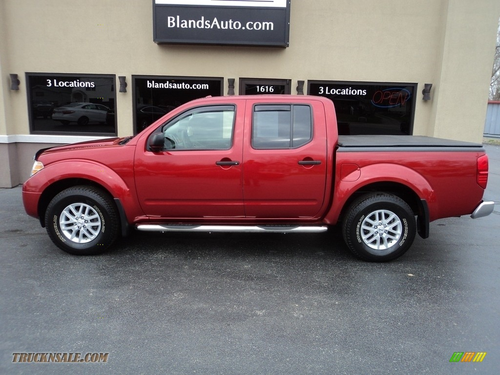 2017 Frontier SV Crew Cab 4x4 - Lava Red / Steel photo #1