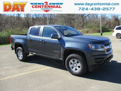 Shadow Gray Metallic 2019 Chevrolet Colorado WT Crew Cab 4x4