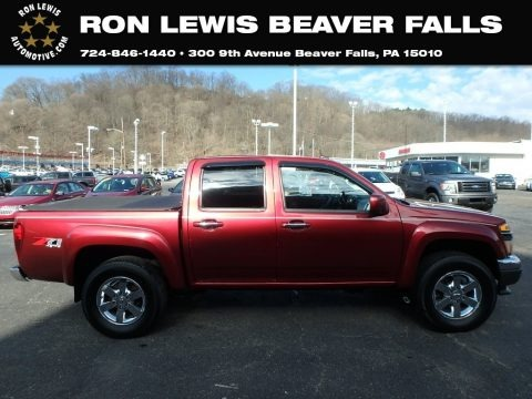 Cardinal Red Metallic 2011 Chevrolet Colorado LT Crew Cab 4x4