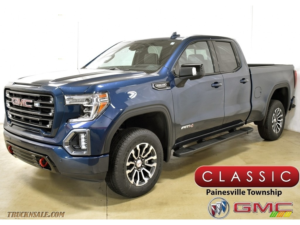 Pacific Blue Metallic / Jet Black GMC Sierra 1500 AT4 Double Cab 4WD