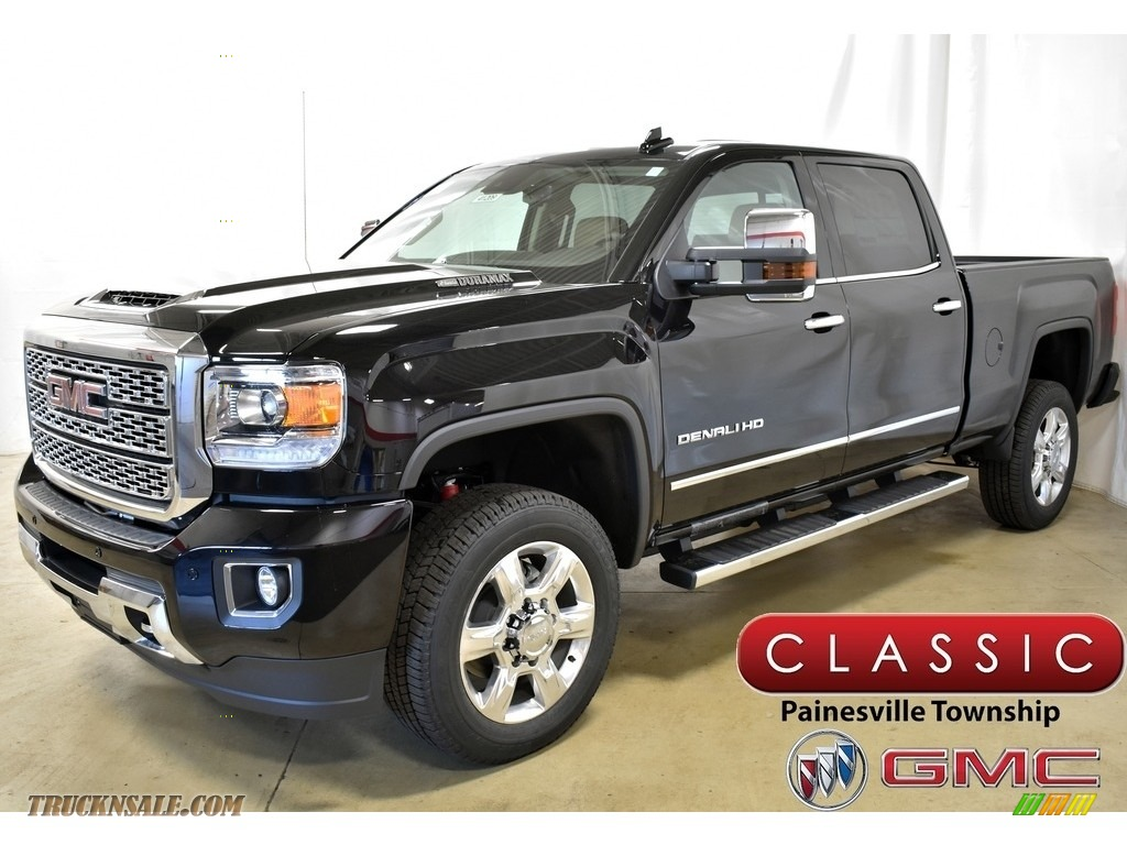 2019 Sierra 2500HD Denali Crew Cab 4WD - Ebony Twilight Metallic / Cocoa/Dark Sand photo #1