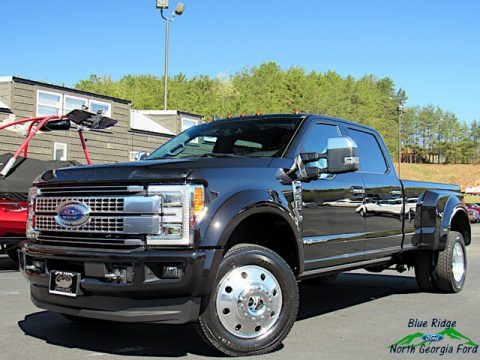 Agate Black 2019 Ford F450 Super Duty Platinum Crew Cab 4x4