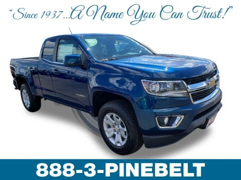 Pacific Blue Metallic 2019 Chevrolet Colorado LT Extended Cab 4x4