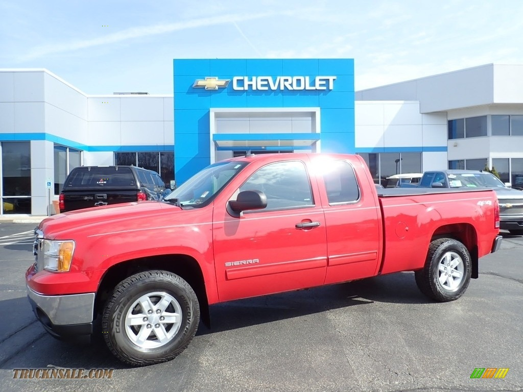 2013 Sierra 1500 SLE Extended Cab 4x4 - Fire Red / Ebony photo #1