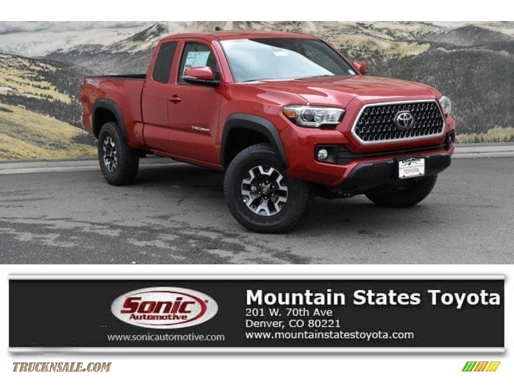 2019 Tacoma TRD Sport Access Cab 4x4 - Barcelona Red Metallic / TRD Graphite photo #1