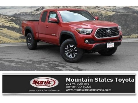 Barcelona Red Metallic 2019 Toyota Tacoma TRD Sport Access Cab 4x4