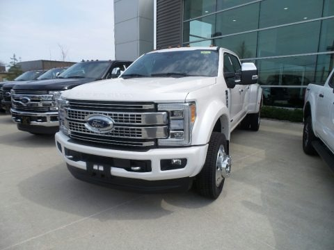 White Platinum Metallic Tri-Coat 2019 Ford F450 Super Duty Platinum Crew Cab 4x4