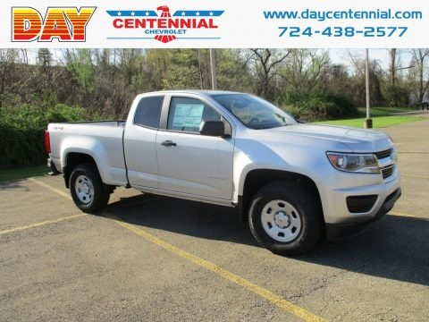 Silver Ice Metallic 2019 Chevrolet Colorado WT Extended Cab 4x4